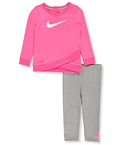 Nike Baby Mädchen Zweiteiliges Outfit, Dark Heather Gray Nike Kleinkind-mädchen-kleidung