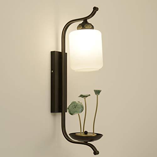 Little baby soggiorno nuovo cinese lampada da parete camera da letto lampada retro lampada da comodino lampada da parete zen corridoio corridoio lampada da parete in ceramica lampada di loto cinese