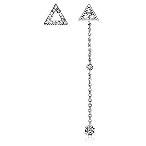 Adisaer Drop Earrings for Women Asymmetrical Earrings Triangle Stud CZ
