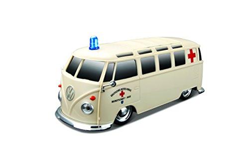"""Maisto Tech R/C VW Bus """"Ambulanz"""": Ferngesteuertes Auto mit Licht & Sound, Maßstab 1:24, Pistolengriff-Fernsteuerung, 5.8 km/h, 20 cm, weiß (582091A)"""