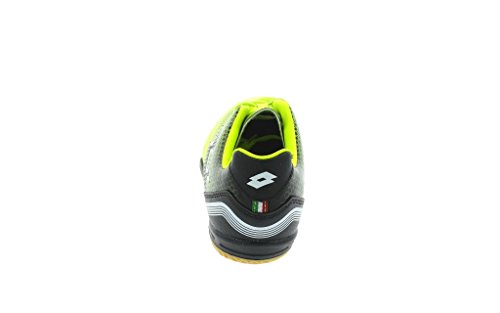 Lotto Spider 700 Xiii Id Jr, Chaussures de Football Mixte Bébé Multicolore - Amarillo / Negro (Ylw Saf / Blk)