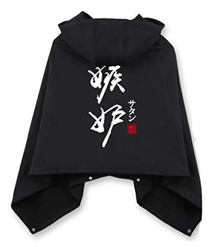 Cosstars The Seven Deadly Sins Anime Cloak Kapuzenpullover Cosplay Kostüm Hoodie Cape Poncho Mantel Outwear Pulli Jacke Schwarz 2 (Deadly Dames Kostüm)