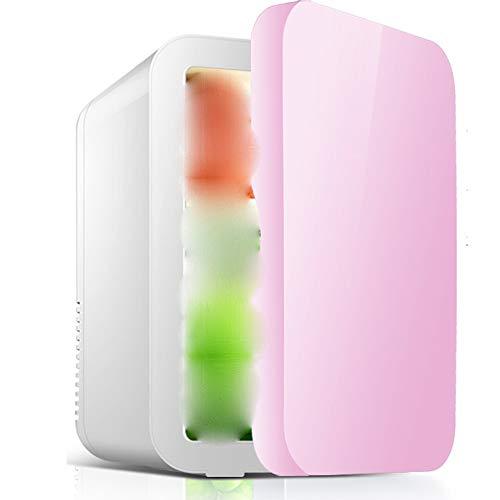 Zhao Li Mini-Kühlschrank Auto Kühlschrank-8L Mini Kleinen Kühlschrank Heim Studentenwohnheim Muttermilch Make-Up Maske Obst Kühlauto Dual-use -\@ (Color : Pink) -