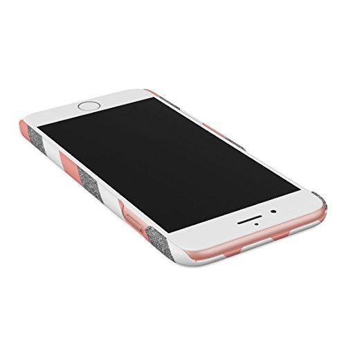 Baby Blue Polka Dots Pattern Dünne Rückschale aus Hartplastik für iPhone 7 Plus & iPhone 8 Plus Handy Hülle Schutzhülle Slim Fit Case cover Coral Pink Chevron