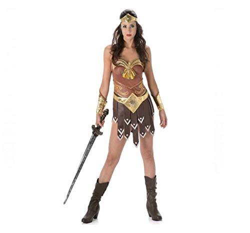 Partychimp 81082 - Disfraz de Gladiador para niña (Talla M), Multicolor