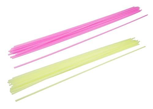 FACKELMANN Sangria-Trinkhalme fluoreszierend 75cm 40 Stück aus PP, Kunststoff, bunt, 75 x 0.1 x 0.1 cm, Einheiten
