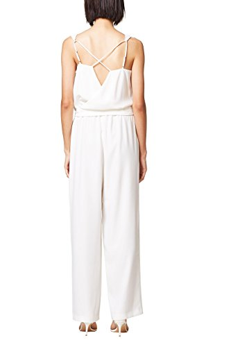 ESPRIT Collection Damen Jumpsuit 068EO1L007, Weiß (Off White 110), 36 - 2