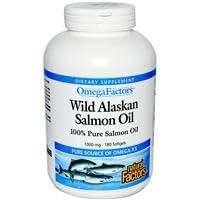 Natural Factors, Omega Factors, Huile de saumon sauvage d'Alaska, 1000 mg, 180 gélules