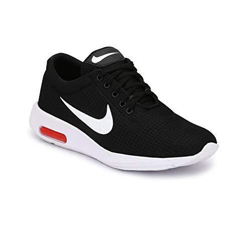 Rshoe Mens Womens Black Mesh Running Shoes,Sports Shoes,Casual Shoes,Walking,Gym Shoes (6, Black)