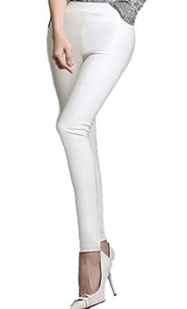 Helan Femmes Faux Cuir Leggings Pantalons Crayon Faux Cuir Pantalon ... 54f4e0ee1d6b