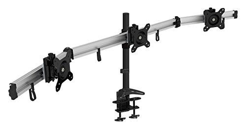 HFTEK 3-Fach Monitorarm - Tischhalterung für 3 Bildschirme von 15 - 27 Zoll mit VESA 75 / 100 (MP230C-L)