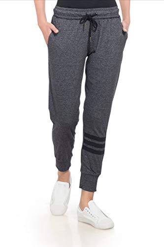 Alan Jones Solid Sports Trim Women's Joggers Track Pants
