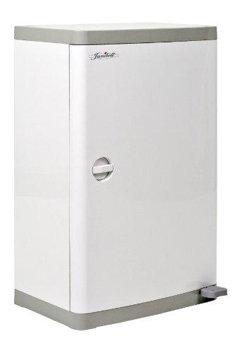 janibell m400ds ABS 13-gallon Commercial Windel Verfügung System mit extra Geruchskontrolle, Fuß Pedal, rechteckig, 15-3/10,2cm Breite x 11-69/254cm Tiefe x 25-1/12,7cm Höhe, weiß/grau