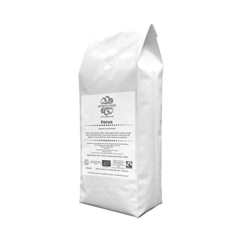 Mindful Coffee – Focus | Certified Organic Coffee Beans Freshly Roasted in The UK | Single Origin Speciality | Bulletproof Coffee Quality | 100% Arabica 31tJ7A UuwL