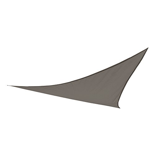 Aktive - Toldo vela triangular para jardín, poliéster, 360 x 360 x 360 cm, color antracita (ColorBaby 53906)