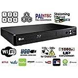 LG BP-350 Region Free Blu-ray Player, Multi Region Smart WiFi 110-240 Volts, 6FT