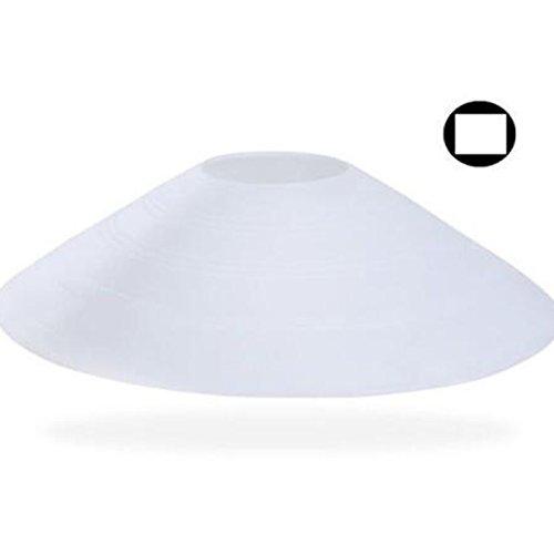 (haiyou Warnschutzfarben Kegelmarkierer Fußball Kegel Sport Kegel für Sport (weiß, 5 Stück))