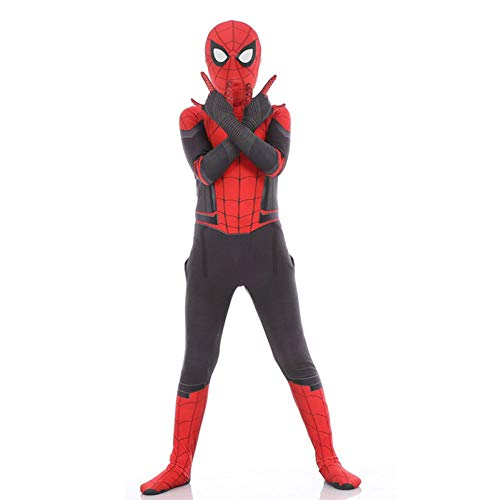 alloween Cosplay Anzug Kinder Adult Movie Kostüm | Far from Home Spiderman Bodysuit,Child-XL ()