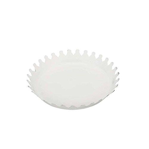 Posiwio Petite Assiette en métal Krone Blanc Shabby Chic