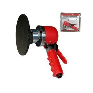 6 Inch Dual Action Air Sander Orbital Red by Pitbull