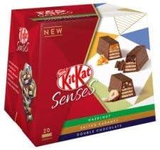 Nestle Kitkat Senses Hazelnut, Salted Caramel & Double Chocolate Box (20pcs Approx), 200g