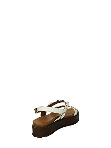 INUOVO scarpe donna sandali piattaforma 7371 BIANCO Bianco
