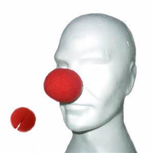Clown-Nase aus Schaumstoff, 12 Stück, rot -Clowns-Nase-