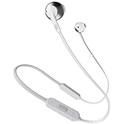 JBL TUNE 205BT - Écouteurs sans fil Bluetooth - Avec microphone intégré et télécommande à 3 boutons - Autonomie jusqu'à 6 hrs - Argent