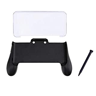 Amazingdeal 3 in 1 Hand Grip + Crystal Case + Plastic Stylus Pen for Nintendo NEW 2DS LL 2DS XL Console