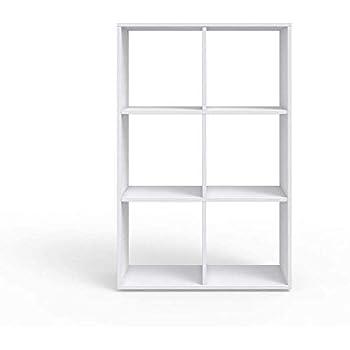 Amazon.de: VASAGLE Regal mit 8 Fächern, Bücherregal aus