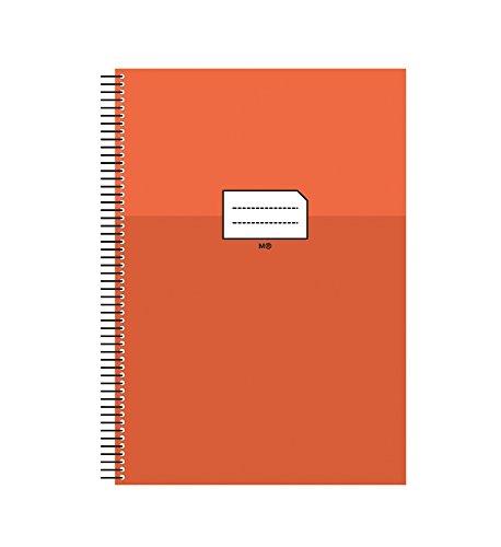 miquelrius-47034-cuaderno-escolar-folio-milimetrado-con-margen-naranja-80-hojas