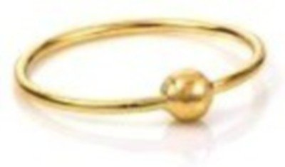 Gandhi Jewellers Shiny Simple Plain Gold Nose Ring Ball Plain NoseRing. Ball Plain Shinny Gold Nose Ring. Ball Stylish.