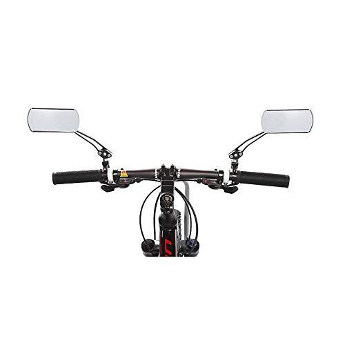 HUI JIN Fahrradspiegel, Aluminiumlegierung, 360 Grad drehbar, für Rennrad, Roller, Motor, 1 Paar