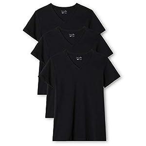 Berydale Damen T-Shirt mit V-Ausschnitt, 3er und 5er Packs