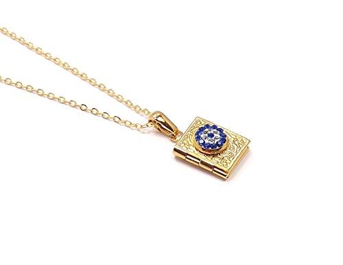 Remi Bijou - Halskette mit Anhänger 'Tasche' - aufklappbar für Foto Medallion Fotobehalter
