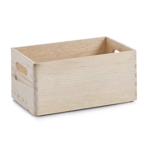 Zeller 13512, scatola multiuso, legno di conifera, beige, 30 x 20 x 15 cm