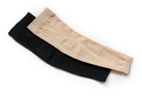Schwarz Kompression Arm ärmel (Lindner socks Kompressions-Ärmel Ccl 2 (L, schwarz))