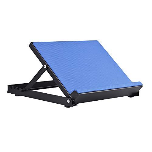 ETE ETMATE Giraffe-X Slant Board - Wadenstrecker Incline Stretching Board Knöcheltherapie Stretch Wedge Achilles, Plantarfasziitis, Wadenmuskeltraining, 4 Positionen (Blau) (Stretching-board)