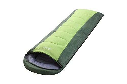 Semoo-Saco-de-dormir-impermeable-de-6-22C-190T-encapuchado-para-adultos-con-bolsa-de-compresin-Verde