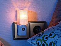 Stromsparendes Nachtlicht für die Steckdose, mit Dämmerungs-Sensor von wechselnde - Lampenhans.de