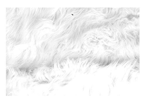 Kunstfell-Teppiche ca. 60x90x5 cm Auflage Vorleger Bettvorleger Fellteppich, Variante:weiß