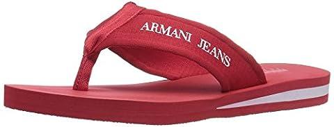Armani Jeans Herren 9350937P447 Zehentrenner, Rot (Red 1463), 41 EU