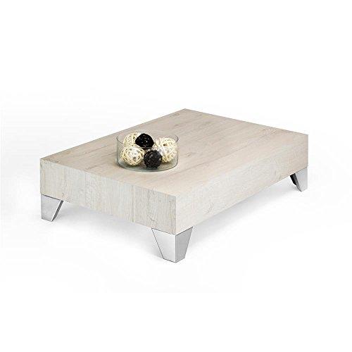 Mobilifiver evolution 90 tavolino da salotto, legno, rovere crema, 90x60x24 cm