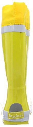 Playshoes Rubber Basic Lined, Bottes mixte enfant Jaune (Yellow)