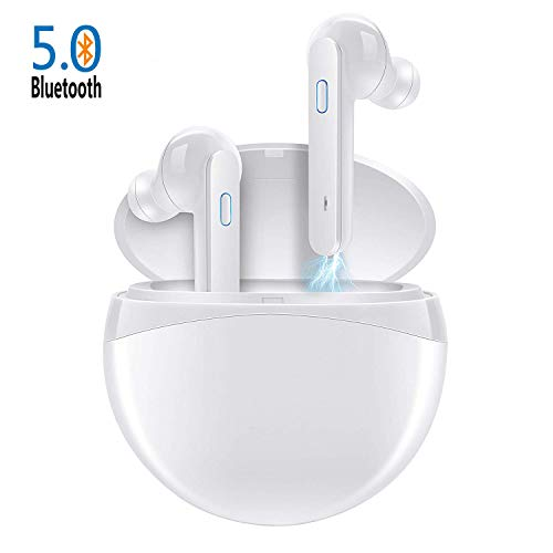 Cuffie Senza Fili Bluetooth 5.0 Super Bass True Wireless Sport In-ear Auricolari 40 Ore Playtime IPX4 Impermeabile per IOS Android con Due Microfono e Custodia di Ricarica Portatile