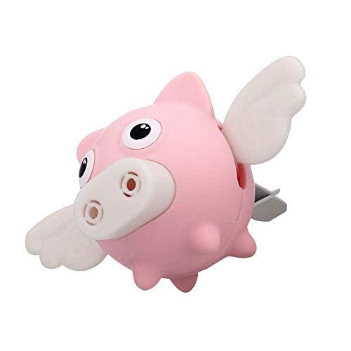 CSPone | Auto Lufterfrischer, Auto luftreiniger, Auto duft, Atherische öle für Diffuser - Automatische Verteilung durch Klimaanlage - Fliegende Schweine, Rosa, 9 * 4.5 * 4.5cm, 1set