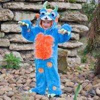 Blaues Monster Kostüm Kinder 18-24 Monate / 92cm