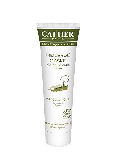 Cattier Grüne Heilerde Maske für fettige Haut, 1er Pack (1 x 100 ml)