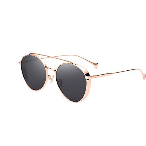 Daawqee Metal Round Steampunk Sunglasses Men Women Fashion Glasses Designer Retro Frame Vintage Sunglasses High Quality UV400 PB-21032Golden black