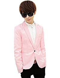 a5f929ef3619 KINDOYO Modern Casual Suits - Men Winter Slim Fit New Suits Coat Long  Sleeve Blazer Business